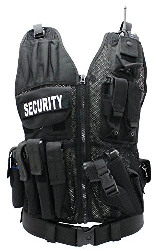First Class Tactical Duty Vests Security, Black-XL/2XL