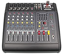 MUSYSIC 6 CHANNEL 2000 Watts PROFESSIONAL POWER MIXER AMPLIFIER With USB/SD Slot