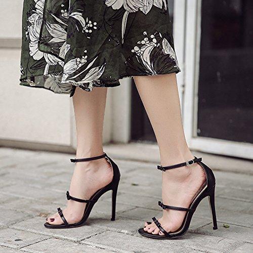 americane estive sandali tacco europee donna UE sandali alto e alti discoteche black e da a tacchi RUGAI Scarpe qP68w1