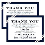 Nautical Thank You Postcards Boys Baby Shower - Set of 15