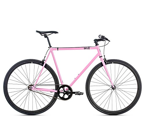 6KU Fixed Gear Single Speed Rouge Urban Fixie Road Bike, Pink, ()