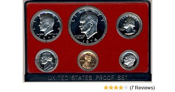 1974-S United States Mint Proof Coin Set w// Box