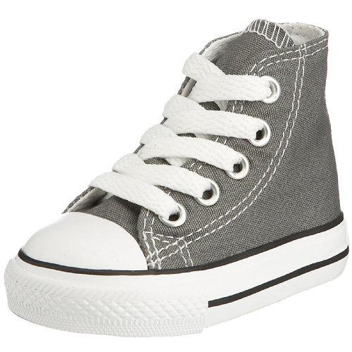 Converse Chuck Taylor Hi Charcoal (Converse Kid's Chuck Taylor All Star High Top Shoe, charcoal, 2 M US Infant)