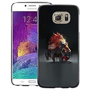Snap-on Series Teléfono Carcasa Funda Case Caso para Samsung Galaxy S6 , ( Abstract Monster )