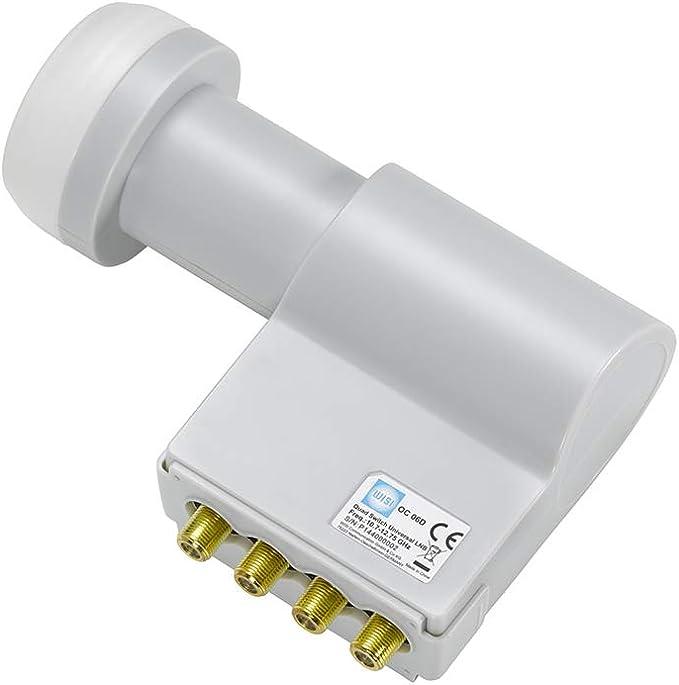 Wisi Satellite Dish Set Grey 80 Cm For 4 Users Oa 38 G Elektronik