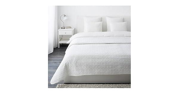 IKEA colcha y 2 fundas de cojín, color blanco, reina/King ...