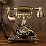 old fashion phones XICHEN Resin imitation copper Vintage STYLE ROTARY Retro old fashioned Rotary Dial Home and office Telephone