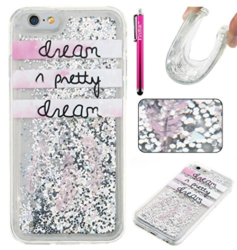 """Price comparison product image iPhone 6 Plus / 6S Plus Case,  Firefish Thin Sparkle Flexible TPU Gel Silicone [Ultra Thin] [Scratch Resistances] Back Cover Shell for Apple iPhone 6 Plus / 6S Plus 5.5"""" -Dream"""
