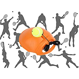 Tennis Trainer, Occitop Tennis Practice Training Sport Tool Exercise Tennis Ball Self-study Rebound Ball Baseboard (Yellow)