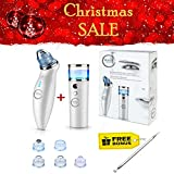 Facial Steamer Oil Cleansing Method - Sis&Co Blackhead Remover Vacuum extractor & Suction – 2 in 1 Ionic Portable Nano Moisture Sprayer Cool Mist USB Rechargeable. Free Bonus Skin Care Tool.