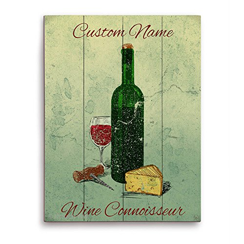 Wine Connoisseur Painting Wine Bottle Glass Cheese Cork
