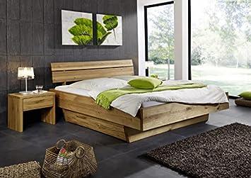 Doppelbett Bett Holzbett Wildeiche massiv Schlafzimmer Balken ...