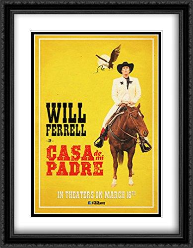 Casa de mi Padre 28x36 Double Matted Large Large Black Ornate Framed Movie Poster Art - De Poster Mi Padre Casa