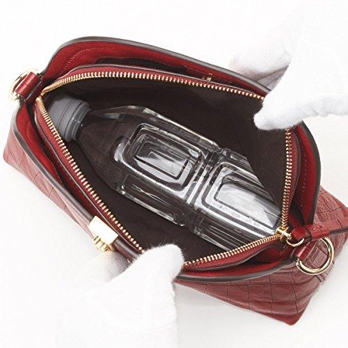 471c47a4bd84 LQC-01/レザーショルダーバッグ B07D6XZC7W ** マロン マロン ** サザビーレディス(SAZABY)-レディースバッグ財布