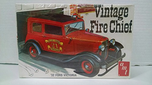 AMT T177 1932 Ford Victoria Vintage Fire Chief RARE 1:25 Scale Plastic Model Kit NEEDS ASSEMBLY