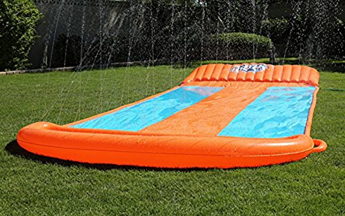 Bestway Two (2) H2O Go Triple Slider Kids Outdoor 3-Person Water Slides | 52200E by Bestway (Image #6)