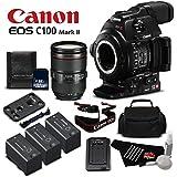 Canon EOS C100 Mark II with Dual Pixel CMOS AF & EF 24-105mm f/4L IS II USM Zoom Lens Kit International Version (No Warranty)- Gold Level Bundle