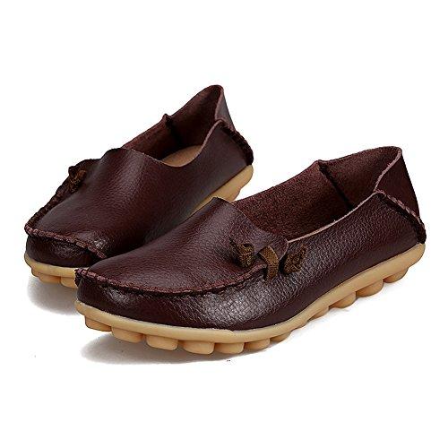 Blivener Mujeres Flat Zapatos Casual Loafers Walking Comfort Summer Zapatillas Marrón