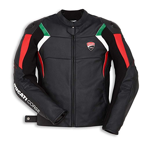 (Ducati Corse C3 Perforated Leather Jacket - Black - Size 54 )