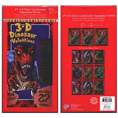 3-D Dinosaur Valentines Sales