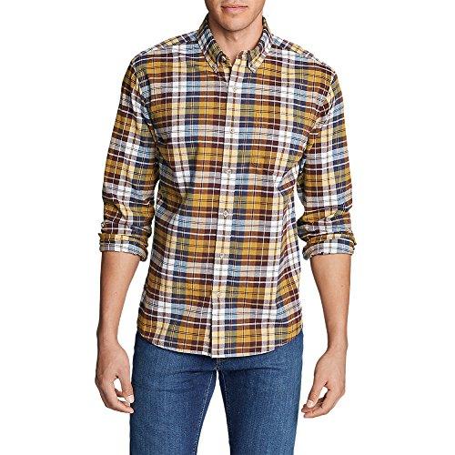 Classic Cabernet (Eddie Bauer Men's Classic Signature Twill Long-Sleeve Shirt - Pattern,Cabernet (Purple),X-Large Tall)