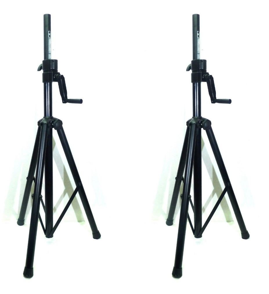 New Two (2) LASE 201C Crank-up Speaker Stand with Folding Hand Crank.