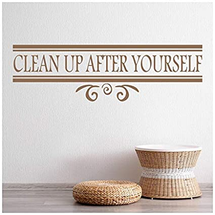 Amazoncom Celeste Decal Banytree Clean Up After Yourself Food
