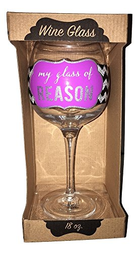 [My Glass of Reason Happy Mothers Day Giftable Wine Glass] (Dollar Jumbo Glasses)