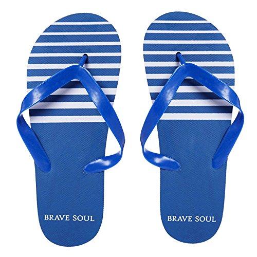 para Soul Football Blue Chanclas de Brave playa Striped hombre qpFnEp