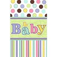 Cubierta de tabla plástica del partido de la fiesta de bienvenida al bebé del paquete minúsculo encantador de Amscan, 54 x 102, multi