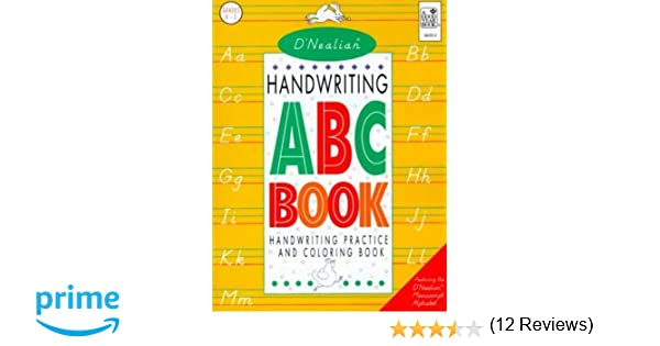 D'Nealian Handwriting ABC Book: Handwriting Practice and Coloring ...