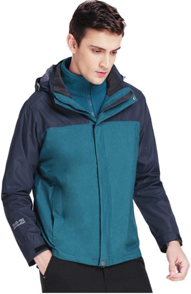 スキージャケット 伸縮性と調整可能な袖口屋外メンズ防水ジャケット防風ハイキングに行くことができます ハイキングキャンプの散歩に最適 (色 : 青, サイズ : XXL) 青 XX-Large