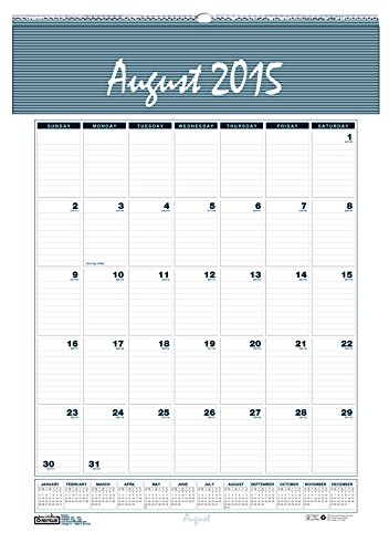 House of Doolittle 2015 - 2016 Academic Year Wall Calendar, Monthly, Bar Harbor, 15.5 x 22 Inches (HOD353-16)