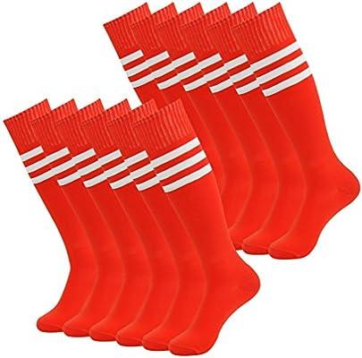 2 Pairs Youth Dress Casual Socks Funky Crazy Adult Football Soccer Tube Long Uniform Indoor Sport Socks Size 7-13 White diwollsam Women Sports Knee High Socks
