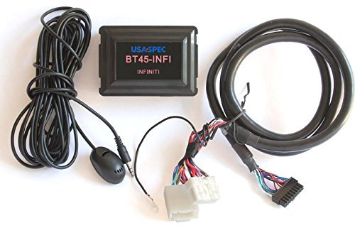 USA SPEC BT45-INFI Bluetooth Phone, Music & AUX Input Kit for Select 2003-2012 Infiniti Nissan Models by USA Spec
