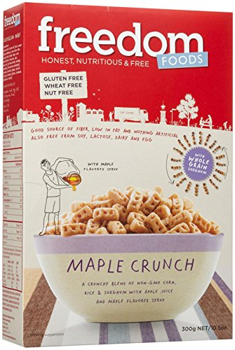 Freedom Foods Maple Crunch Breakfast – Allergen Friendly - BULK CASE: 5 X 10.6 oz Boxes