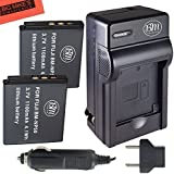 Pack of 2 NP-50 Batteries And Battery Charger Kit For FujiFilm FinePix XF1, XP100, XP150, XP170, XP200, X10, X20, F605EXR, F660EXR, F665EXR, F750EXR, F770EXR, F775EXR, F800EXR, F850EXR, F900EXR Digital Camera + More!!