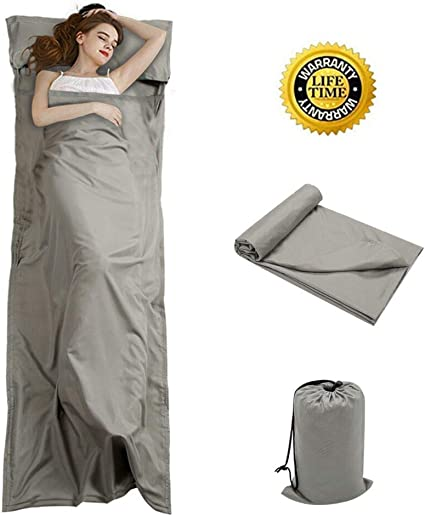 Tough Outdoors XL Sleeping Bag Liner ... Travel Sheet /& Sleep Sack for Adults