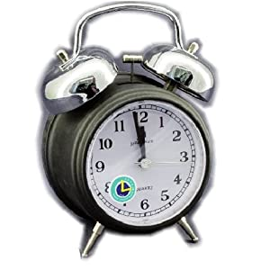 Despertador de Cuarzo silencioso con Campana 9