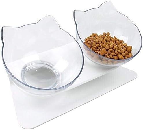 Xiuinserty - Cuenco antideslizante para mascotas con soporte ...