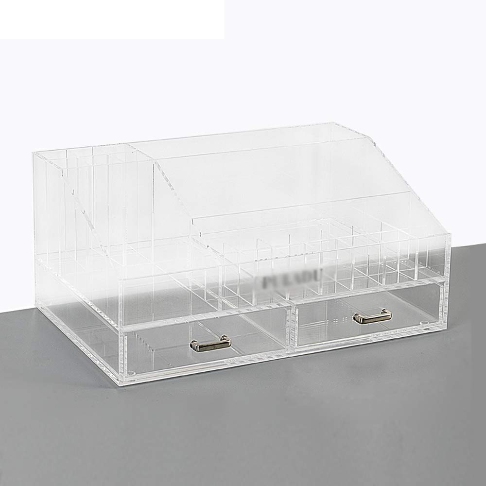 JUFU Cosmetic Storage Box Cosmetic Storage Box - Acrylic Material, Thick and Durable, Easy to take, Moisture-Proof, Breathable, Shiny, Easy to Clean, Hand-Made, Dormitory Desktop Living Room Bedroom