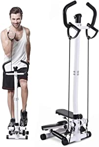 HSART Home Swing Stepper for Exercise, Indoor Pedal Exerciser with Handrail, Home Cardio Workout Equipment for Men and Women