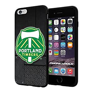 diy zhengSoccer MLS PORTLAND TIMBERS SOCCER CLUB FOOTBALL FC Logo, Cool iPhone 6 Plus Case 5.5 Inch Smartphone Case Cover Collector iphone TPU Rubber Case Black