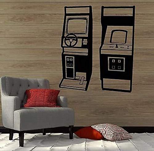 FSDS Vinyl Wall Decals Home Decor - Slots Gambling Video Game Old Gamer Arcade - Living Room Bedroom Home Art Vinyl Decoration Stickers Mural BT0334