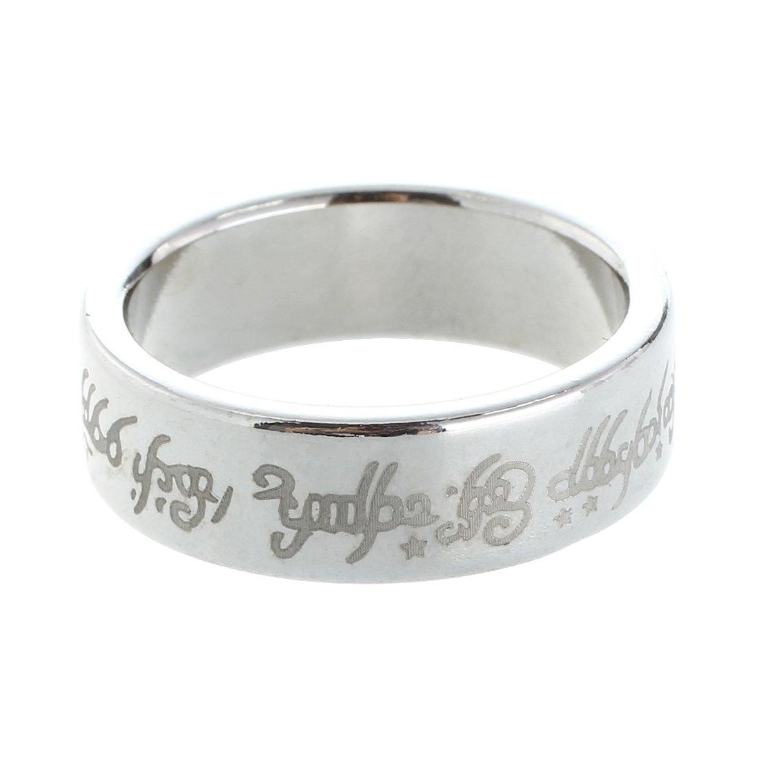 anello magnetico - TOOGOO(R) 1 x magnetica anello anello magnetico anelli magici magia Trucco magico colore argento