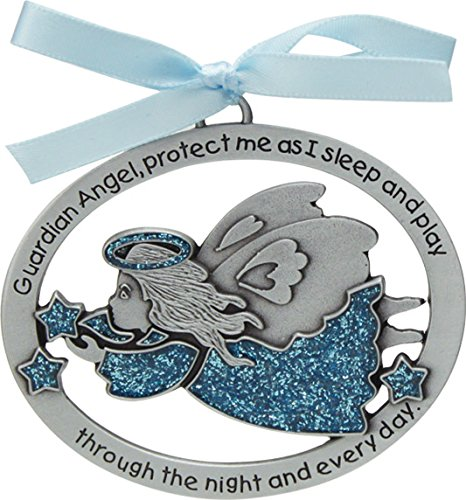 Cathedral Art CM16B Blue Angel Crib Medal for Jewelry Making, 2-1/2 by 2-Inch