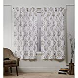 Nicole Miller Tabitha Hidden Tab Top Curtain Panel, Honey Gold, 50x63, 2 Piece