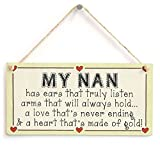 Meijiafei My Nan...has a Heart That's Made of Gold! - Nanna Heart of Gold Gift Love Heart Sign 10'x5'