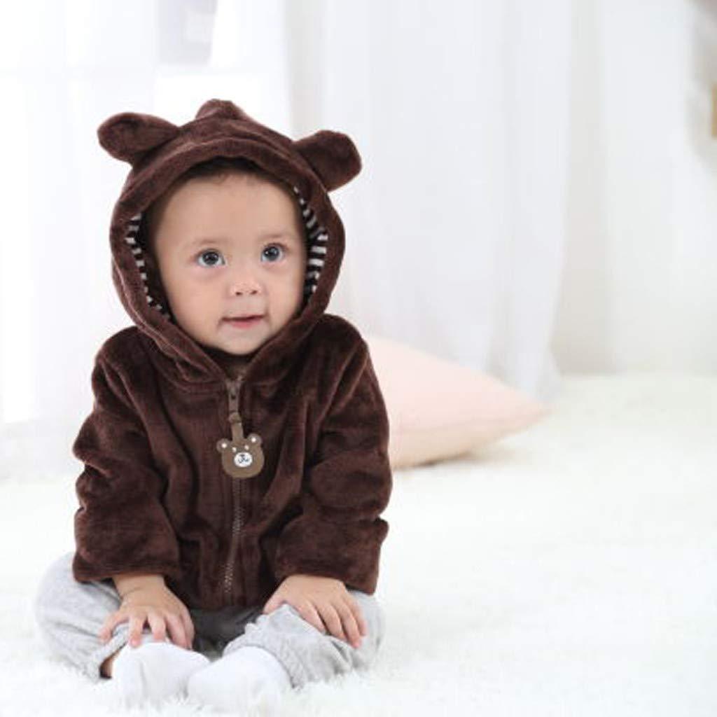 Clacce Baby Jacke Mantel Kleidung Kleinkind Winterjacke Kinderjacken Neugeborenes Baby M/ädchen Karikatur Lange H/ülsen Warmer mit Kapuze Mantel kleidet Schneeanzug
