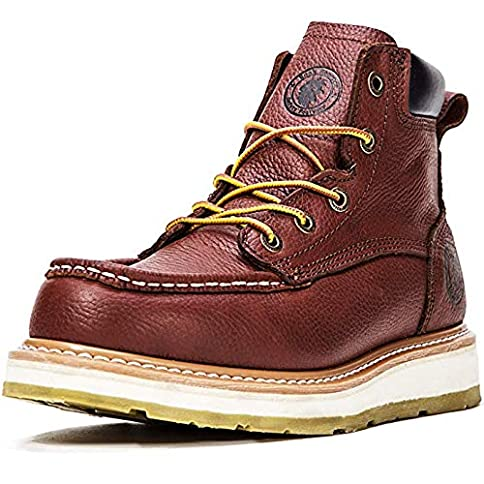 - 51kIjLRIJjL - ROCKROOSTER Work Boots for Men, Soft Toe, Safety Water Resistant Leather Shoes, Width EE-Normal AP360